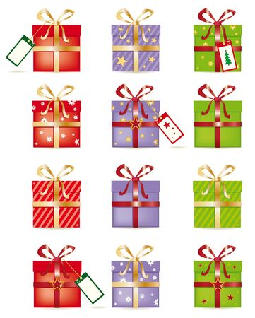 isolated gift boxes on white background Vector