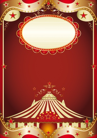 A baroque circus background with a big top. Vector
