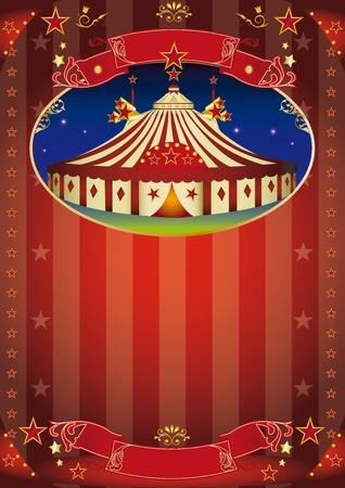 cabaret stage: Circo del cartel para su publicidad.