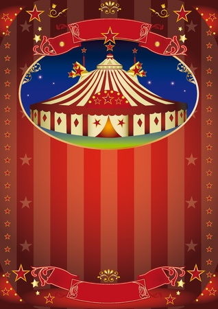 Circus poster for your advertising. Vector
