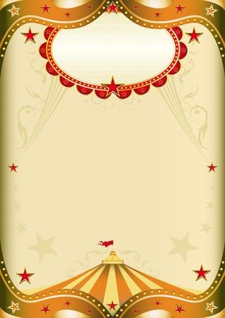 Altes Papier mit einem Zirkus Zirkuszelt für ein Plakat.