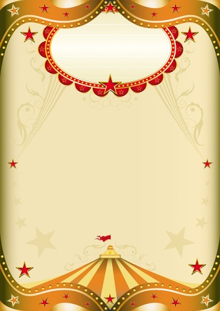 Old paper circus with a big top for a poster. Vector
