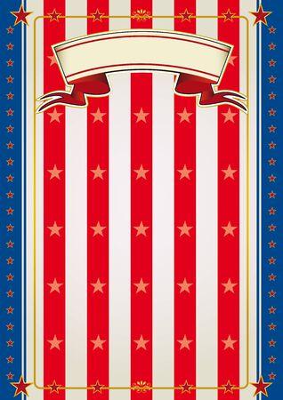 american poster: Un tradicional fondo de EE.UU. para un cartel o un volante. Vectores