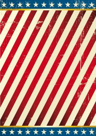 fondo de circo: Fondo sucio en el tema de EE.UU. Vectores