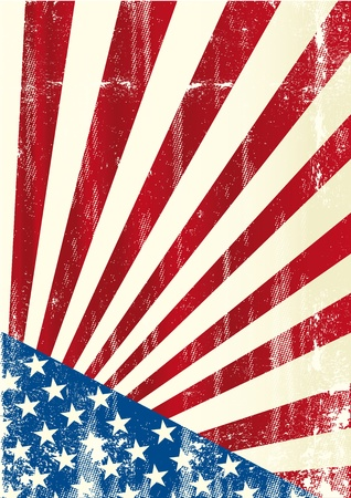 us grunge flag: A grunge american poster