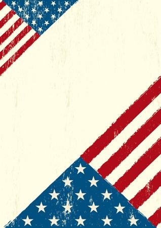 estados unidos bandera: Un cartel del grunge con una bandera de EE.UU. para su publicidad