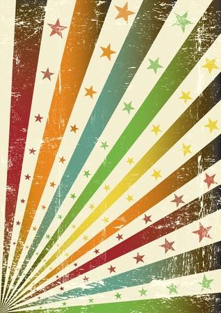 Un cartel del grunge retro para usted. Ilustración de vector