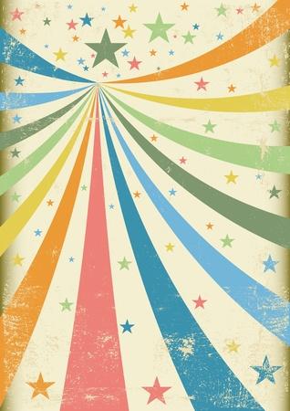 cirkusz: A retro cirkusz háttérben egy poszter Illusztráció