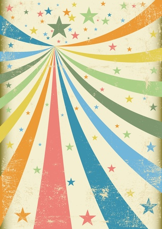 Ein Retro-Zirkus Hintergrund für ein Plakat Vektorgrafik