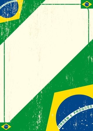 brazilian flag: A brazilian letter for a message.