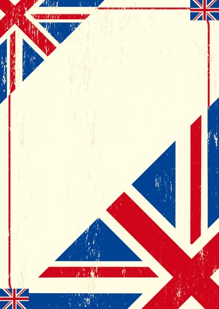 A british letter for a message.  Vector