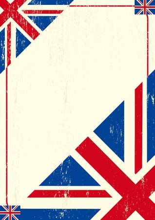drapeau angleterre: Une lettre britanniques pour un message.