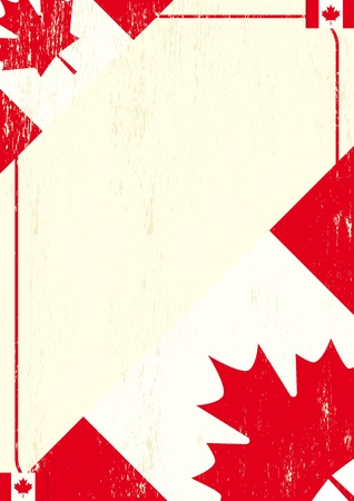 A background with a canadian flag and a texture.