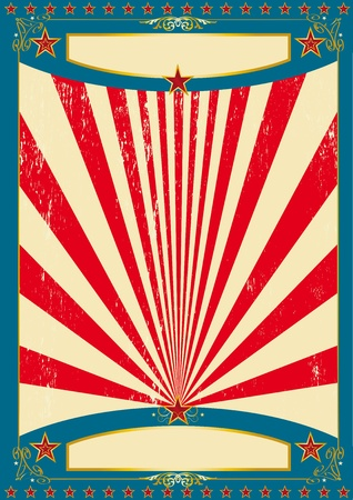 A vintage american for a poster.
