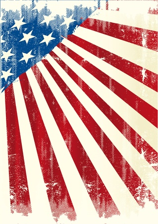 us independance: A grunge american poster .  Illustration