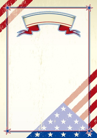 vote symbol: A patriotic background for a poster