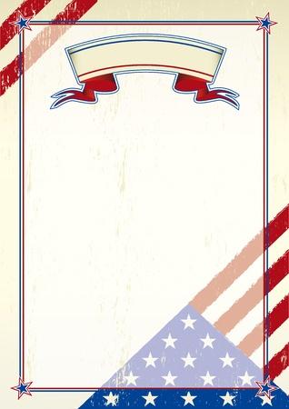 verkiezingen: Een patriottische achtergrond voor een poster Stock Illustratie