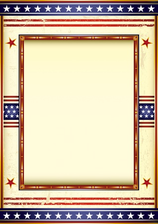 american flag background: Retro style american image with a frame.  See another illustrations like this in my portfolio.