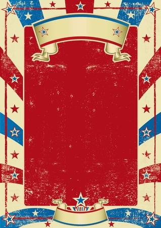 american poster: un fondo de grano para su mensaje.