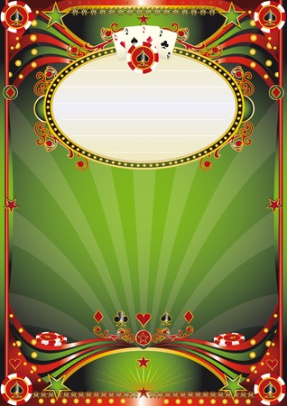 betting: Poster for your poker tour in a casino Illustration
