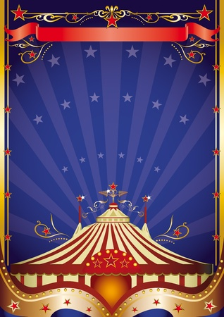 A poster on circus theme for you. Vector