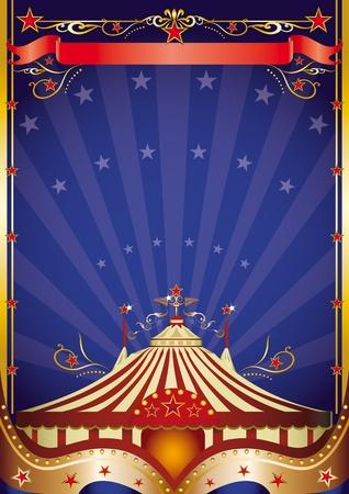 fondo de circo: Un cartel sobre el tema del circo para usted.