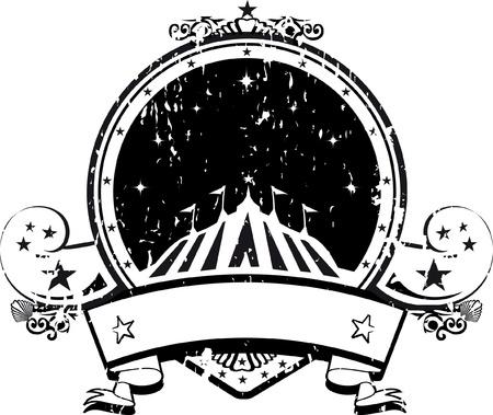 entertainment tent: En blanco y negro sello de circo
