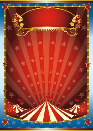 a circus background. Read your message. See another illustrations like this on my portfolio.