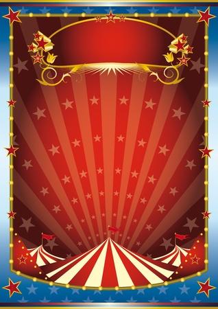 cirkusz: a cirkusz háttérben. Olvassa el az üzenetet. Másik illusztrációk, mint ez a tárcámat. Illusztráció