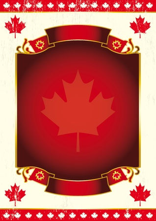 Canadian background for a poster. Vector