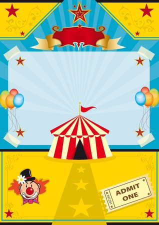 A circus tent on a beach! New background for a poster. Vector