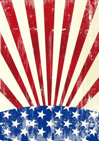 american flag background: A dirty american flag for a background