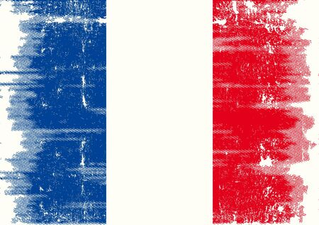 francais: A french flag with a texture  Illustration