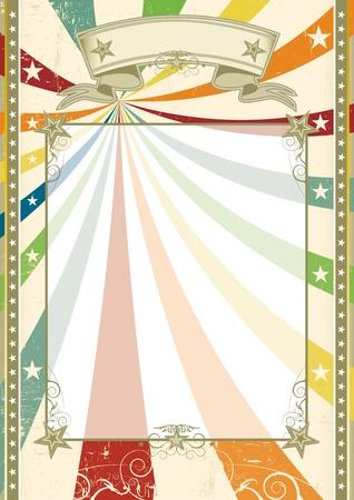 fondo de circo: un color crema con un espacio de la copia transparente para su mensaje.