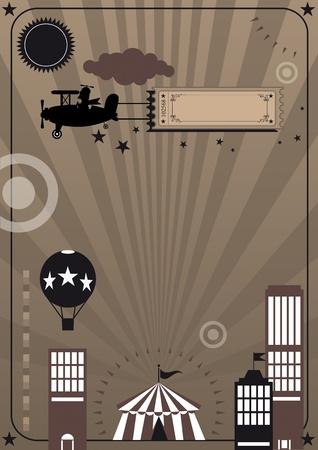 航空ショー: サーカスをテーマに新しいポスター。今日では、サーカスは、市内の彼の新しいショーです !