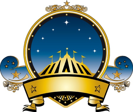 entertainment tent: un sello de oro del circo por un t�tulo