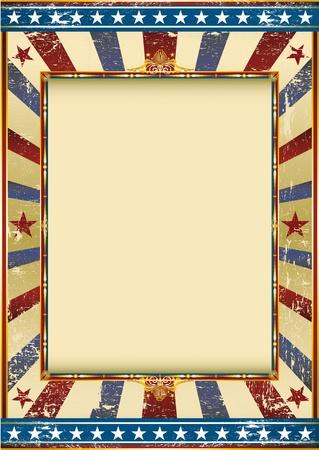 american poster: Imagen de Grunge de edad con un marco. Gran fondo para hacer uso de una publicidad. Ver otro ejemplos como este en mi cartera.