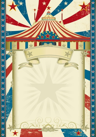A circus background with a big top