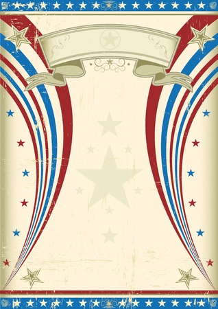 A vintage US background for your advertising  Vector