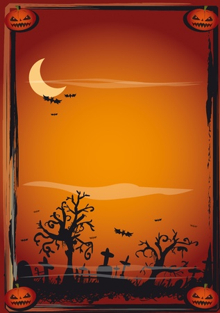 A background on halloween theme for a poster Vector