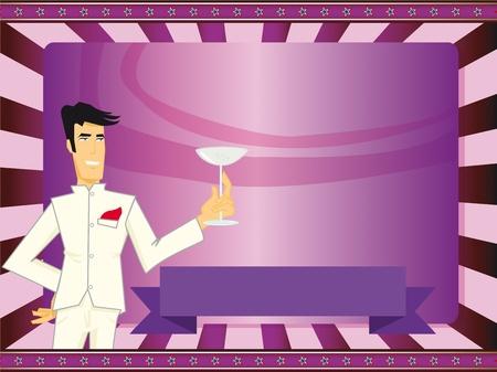 Uitnodiging kaart voor een cocktail party.
