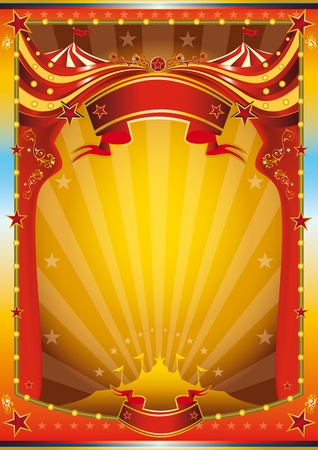 A multicolor circus poster for your advertising. Vector