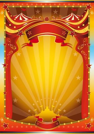 fondo de circo: Un cartel de circo multicolor para su publicidad.