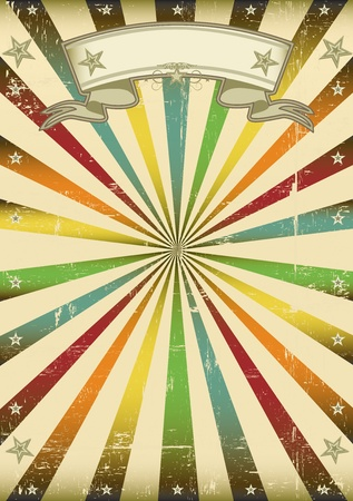 A vintage multicolor background for a poster. Vector