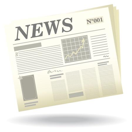 newspapers: Een krant met een schaduw