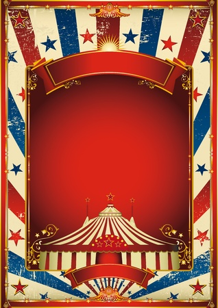 A retro circus poster for your advertising. Vector