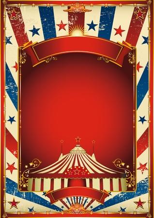 fondo de circo: Un cartel de circo retro para su publicidad.