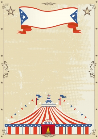 circus stage: A retro circus poster for your advertising.
