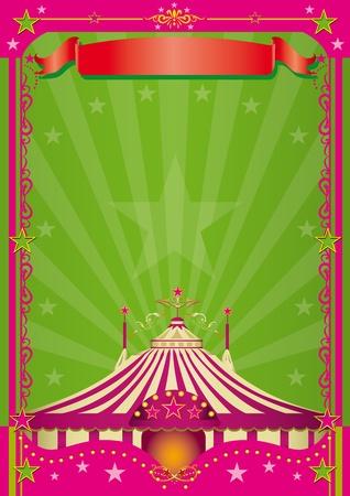 entertainment tent: Un fondo de color rosa en el tema del circo.