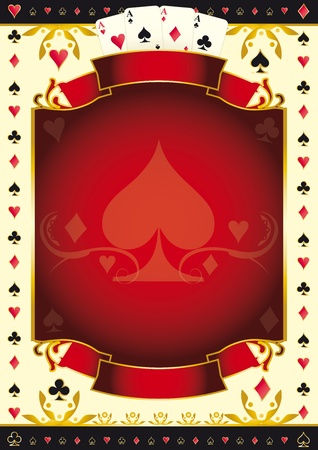 A background for your Poker Tour. Write your message on the copy space. Ilustração Vetorial